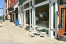 There's outside seating on both Monroe Center and, seen here, on Ottawa Avenue.