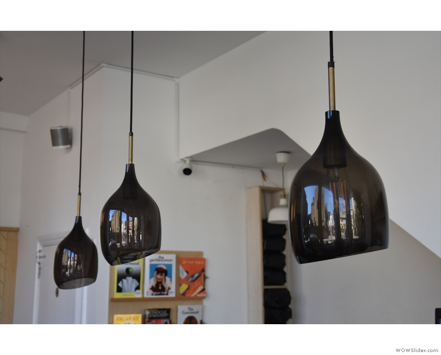Talking of lights, these hang above the counter...