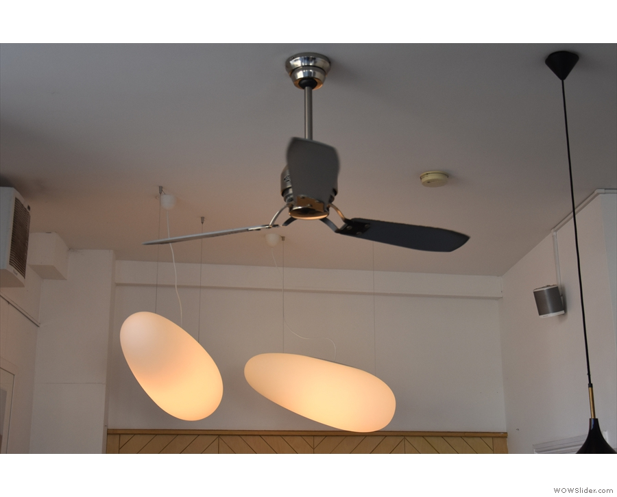 There are also two fans which run down the centre of the ceiling...