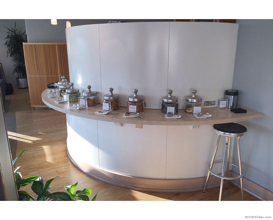 ... more snacks in the shape of these cookie jars at the other end of the lounge.