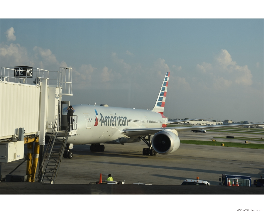 It's a Boeing 787-800, very similar to the one I flew in on from Manchester.
