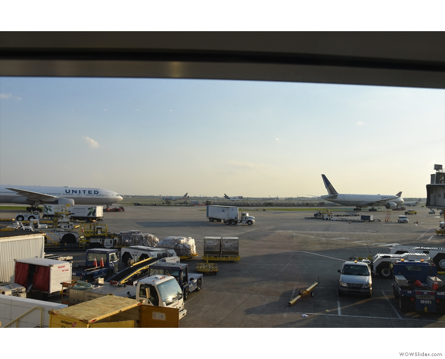 The First Class lounge is great if you want to sit and watch the planes go by.