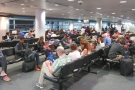 The usual crowded gate, where there aren't enough seats for a full A380.