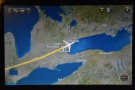 ... and in less than an hour after taking off, we were approaching Toronto & Lake Ontario.
