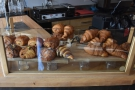 Everything else is along the side of the counter, starting with the pastries.