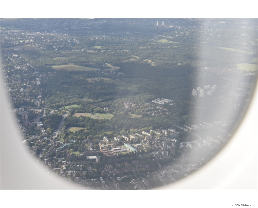 I think that's Putney Heath down there.