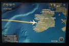 As we approached the western coast of Ireland...