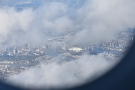 ... and past Docklands and the Millenium Dome...