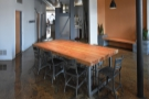 Once again, the eight-person communal table takes pride of place.