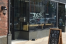 The new home for Buzz Killer Espresso, on N Milwaukee Avenue, heading south and...