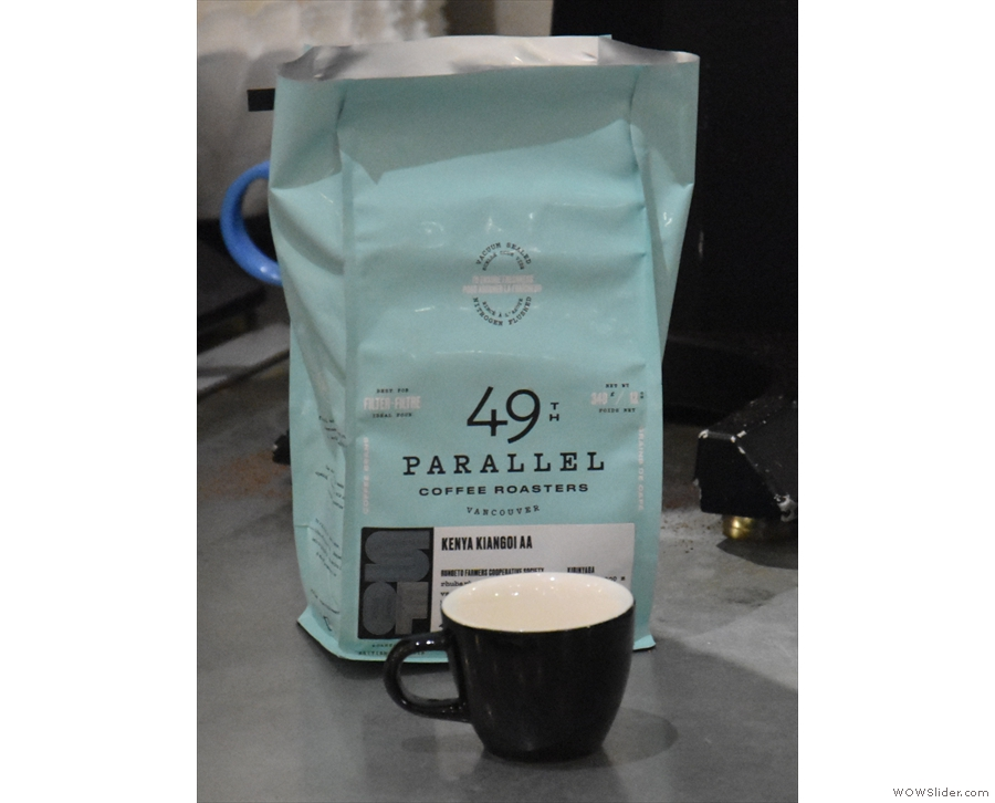 The batch-brew changes daily: it was this Kenyan while I was there.