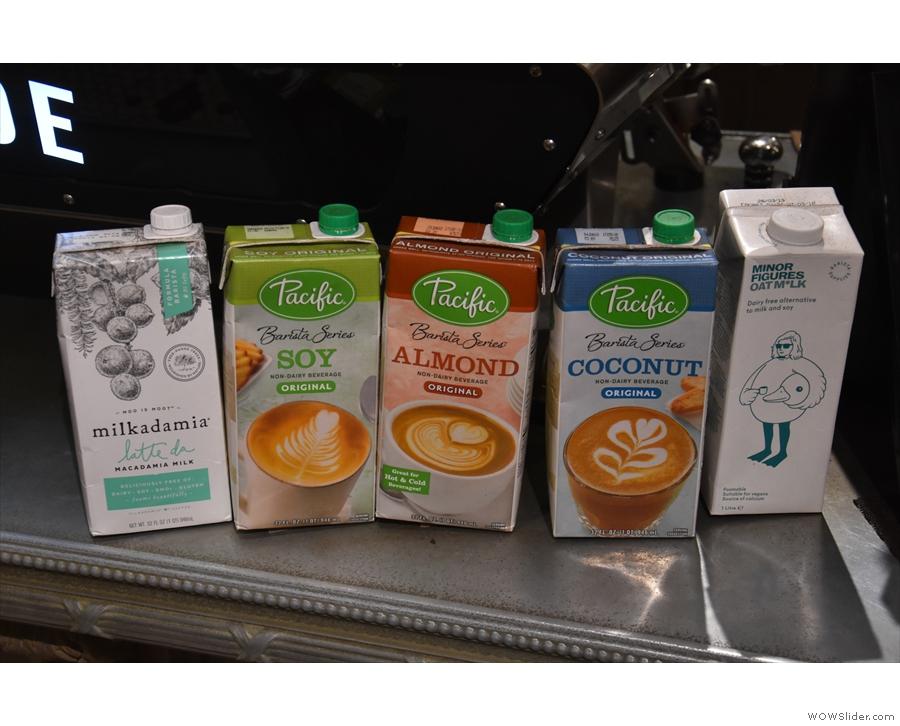 If you don't fancy cow's milk, Café Myriade has a range of non-dairy alternatives.