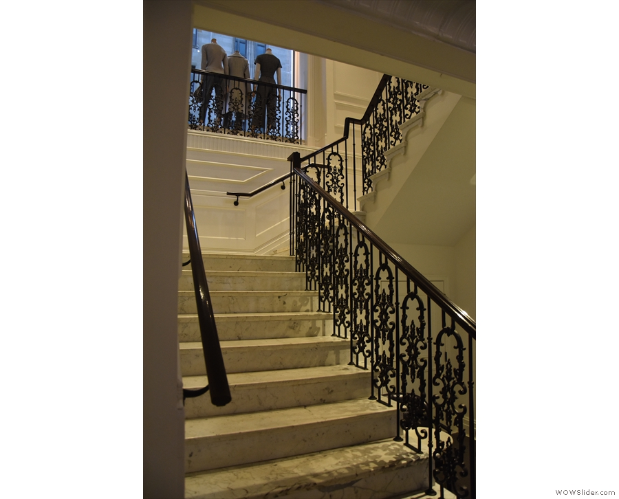 A view of the stairs from the bottom.