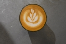 I'll leave you with a look at the latte art in my cortado...
