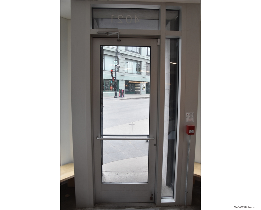 The door itself, as seen from the inside...