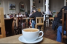 The bustling upstairs at the Exeter branch of the Boston Tea Party