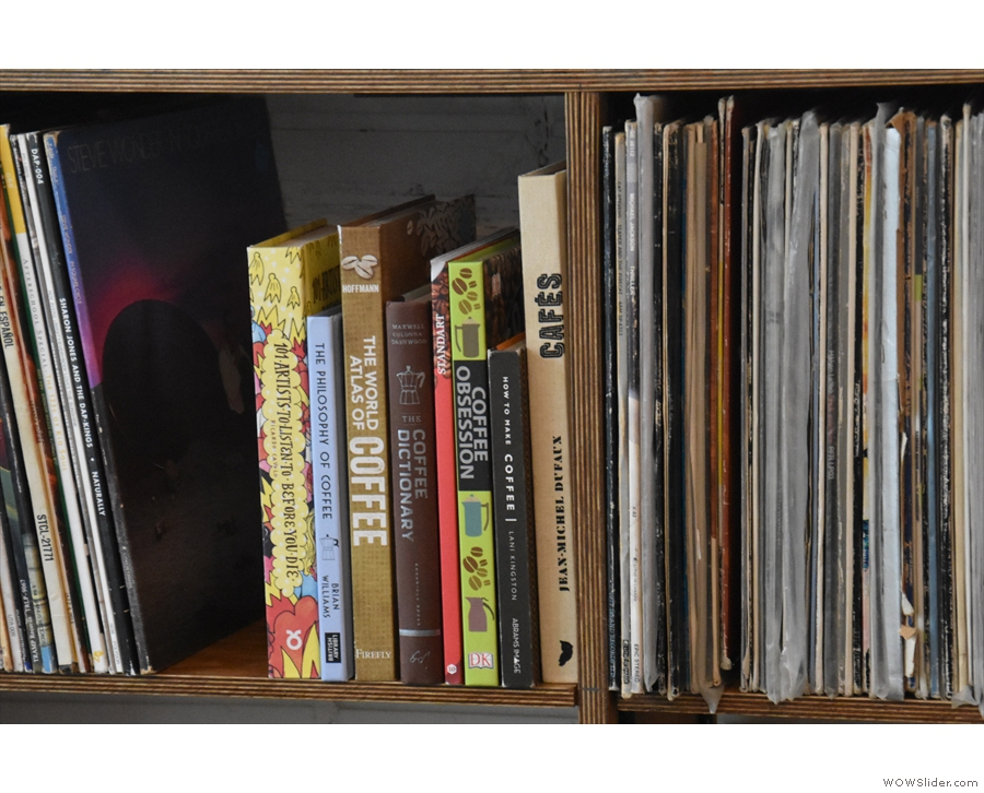 A gap in the records makes room for a small library. My book is in good company!