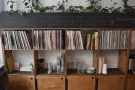 ... a long, long row of LPs...