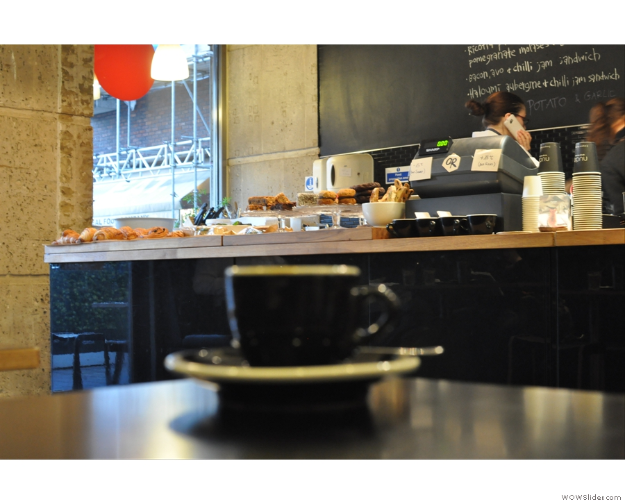 Nude Espresso, which roasts all its own coffee, bakes all the food on the premises