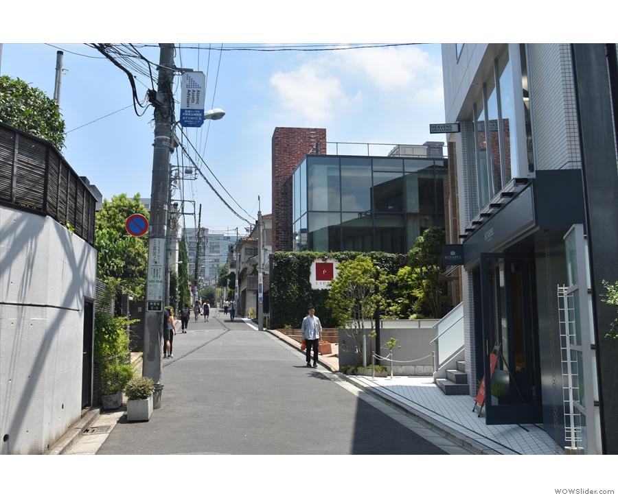 On a quiet street behind Omotesando Avenue, you'll find...