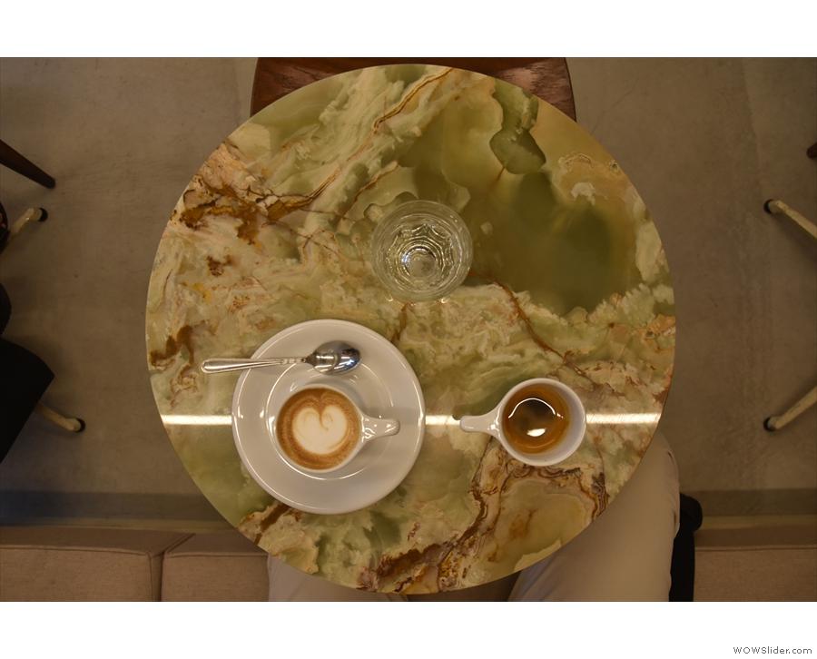 ... made with the single-origin espresso, an Ethiopian Duromina.