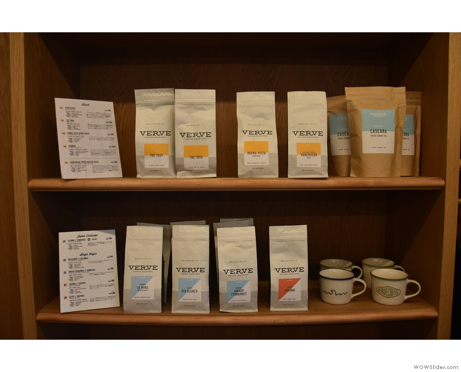 ... where you can buy the full range of Verve's coffee.