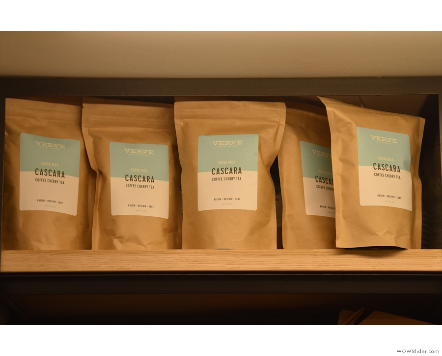 There's also cascara, something of a rarity in the UK at the moment.