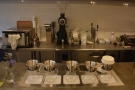 .. after which there's the pour-over area with five Kalita Wave filters on their own scales.