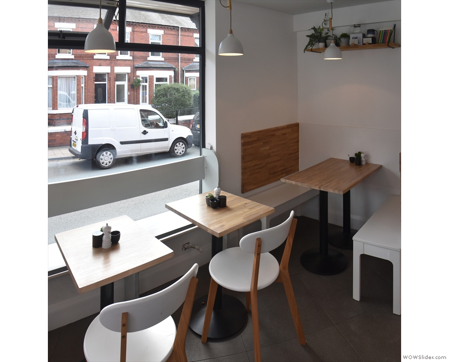 ... then comes the rest of the seating along the front window/wall.