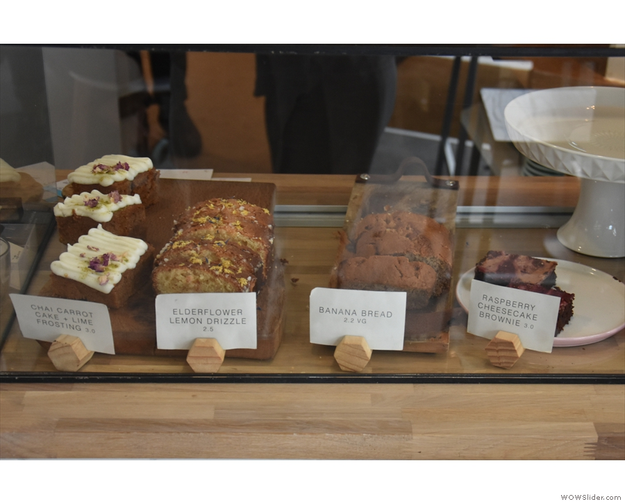 There are some tempting cakes on display here...