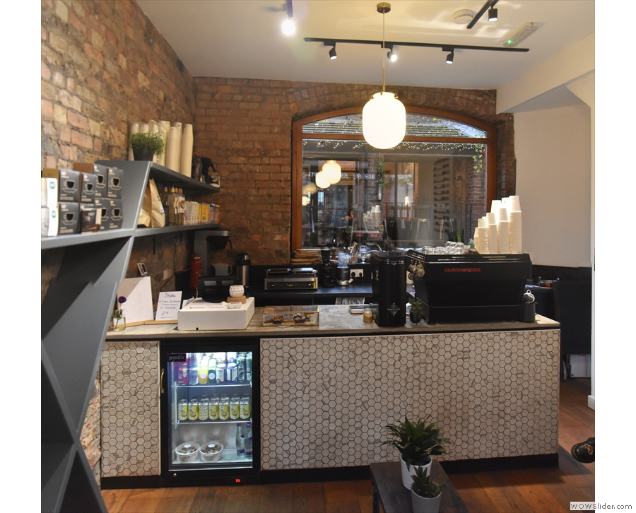 ... while the back of the store is occupied by the beautifully-tiled counter.