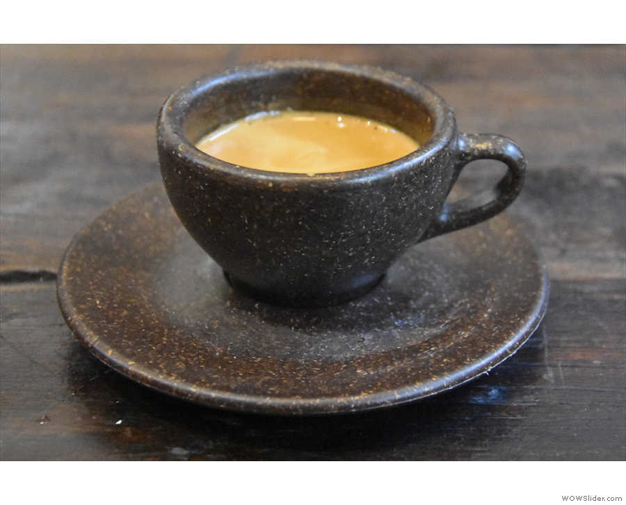And here's my espresso, in a Kaffeeform espresso cup.