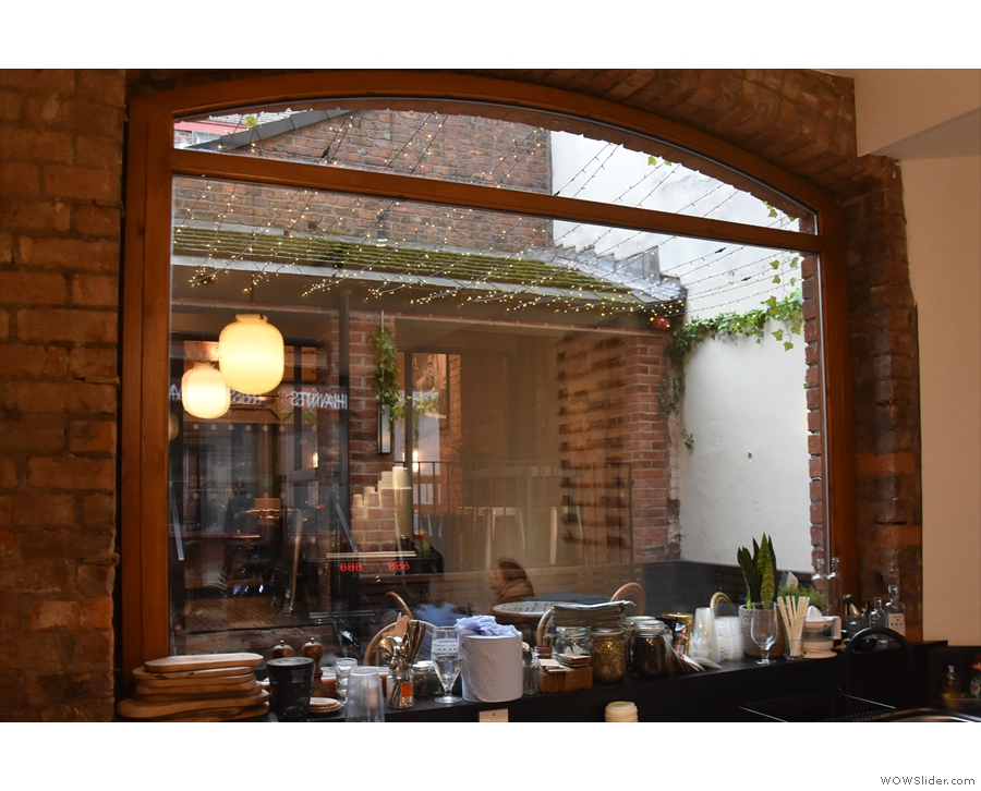 ... there's another large window at the back overlooking a courtyard.