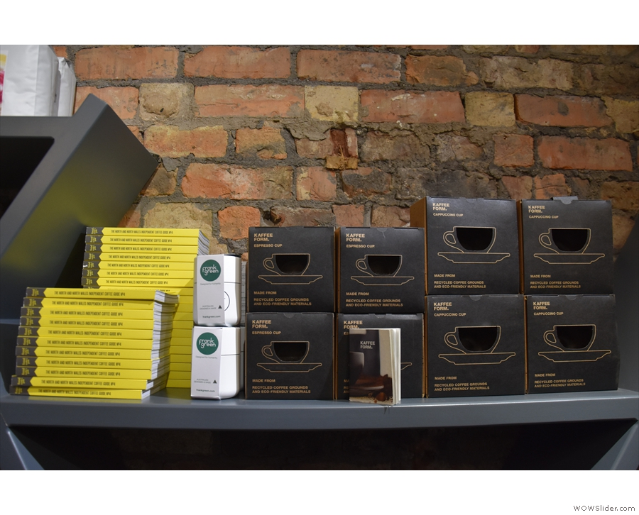 There are also copies of the Northern Coffee Guide, Frank Green cups & Kaffeeform cups.