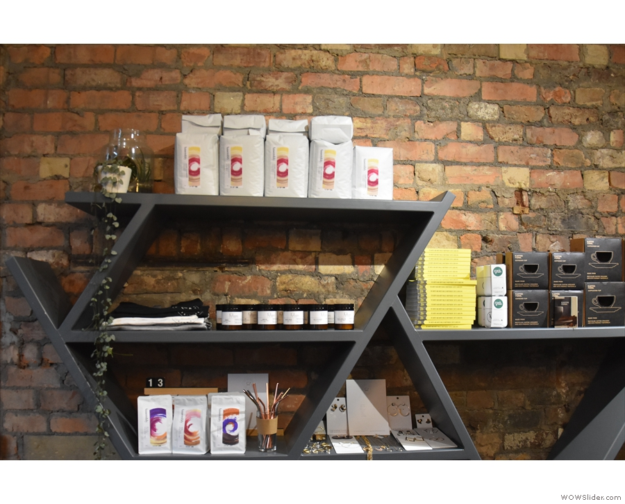 There's lots of coffee and related products.