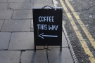 I love a good A-board that provides clear, concise directions.