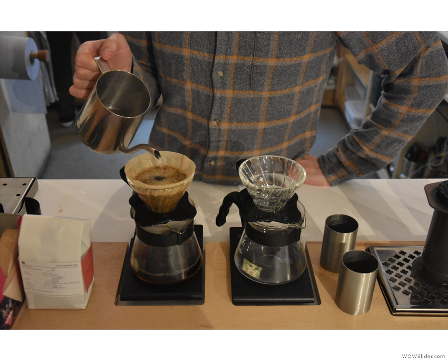 ... or, in my case, V60 for a Rwandan from Helsinki's Good Life Coffee.