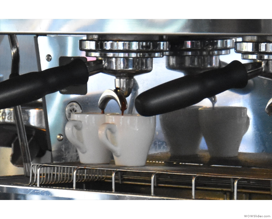 Sitting at the front, by the way, is great for watching your espresso extract.
