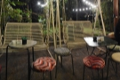 However, pride of place goes to these two swing chairs.