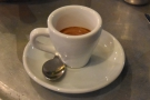 ... we wanted to pour-overs, but it was espresso-based drinks only. I had an espresso...