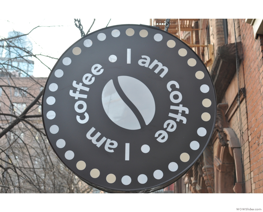 New York City's I Am Coffee, perhaps the most amazing place I visited in the Coffee Spot's first year