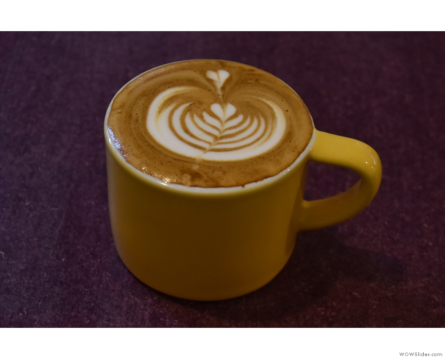 I had a flat white, made with the Dark Art guest, a Guji from Ethiopia.