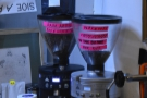 ... beyond which are two EK-30 espresso grinders...
