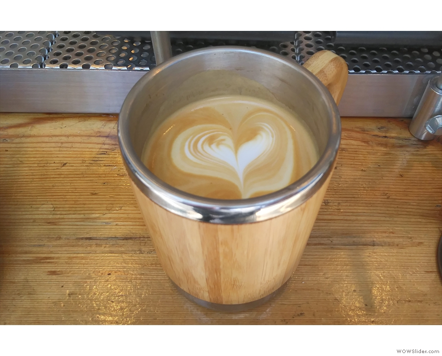 Back again at About Life Coffee Brewers for another latte...