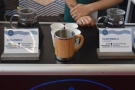 The first outing for my new Global WAKEcup, trying some decaf at World of Coffee.