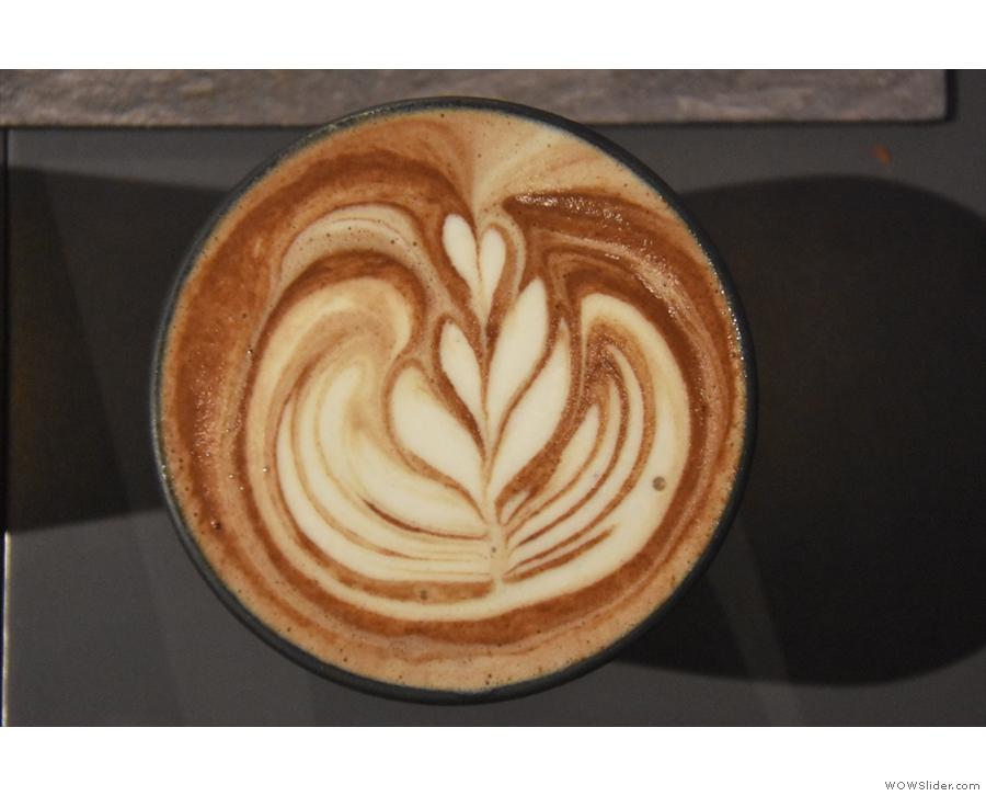 Check out that gorgeous latte art!