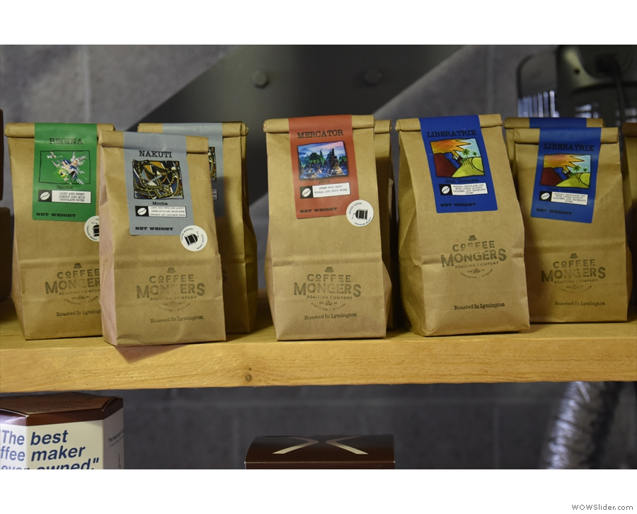 ... where, along with the usual coffee making kit, you'll find plenty of bags of coffee.