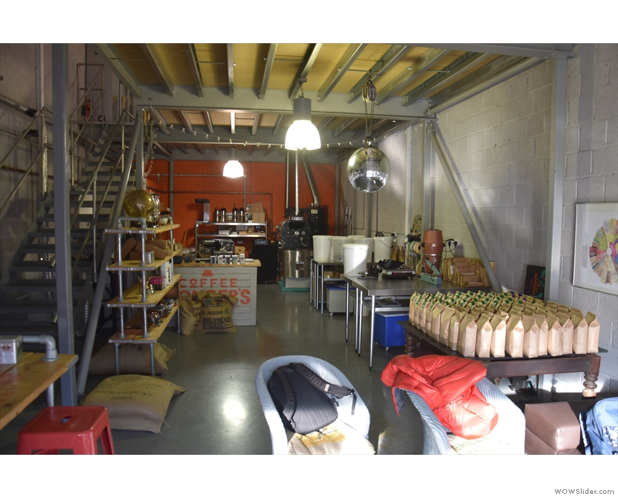 Beyond that is the retail section and, right at the back, the roastery.