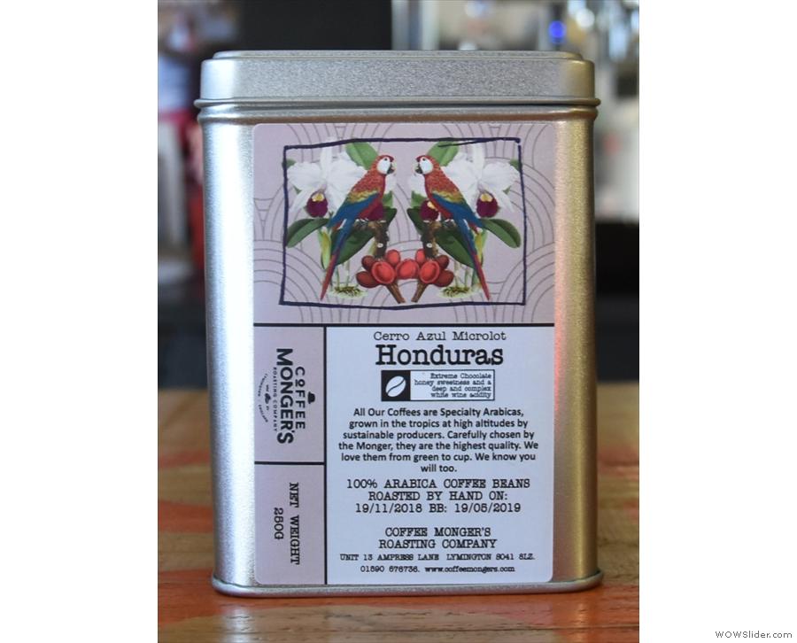 ... naturally-processed Honduran micro-lot.