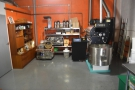 Pride of place goes 20kg Buhler roaster from Switzerland...